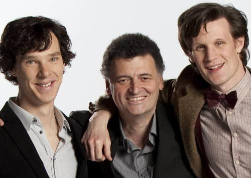 doctor_who_steven_moffat_matt_smith_benedict_cumberbatch
