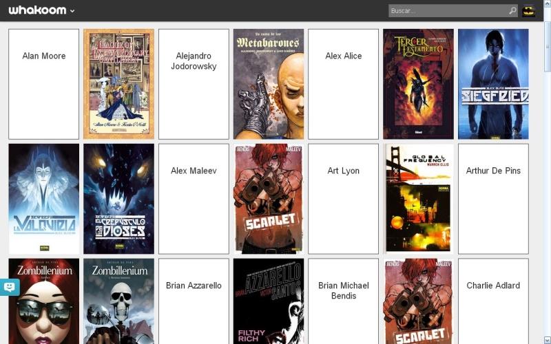 Nuestra comicteca dividida por autores.