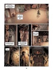 Páginas de la trama ilustrada por Tirso Cons