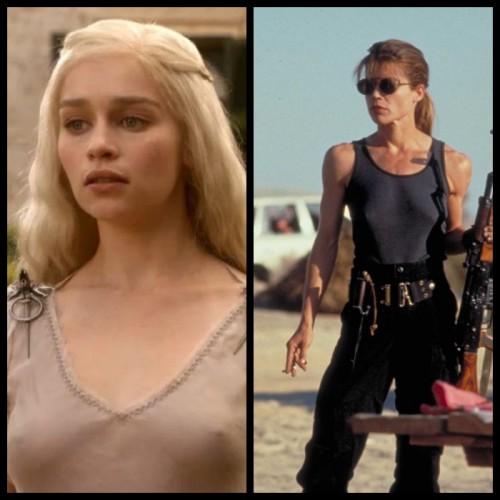 Emilia Clarke vs. Linda Hamilton