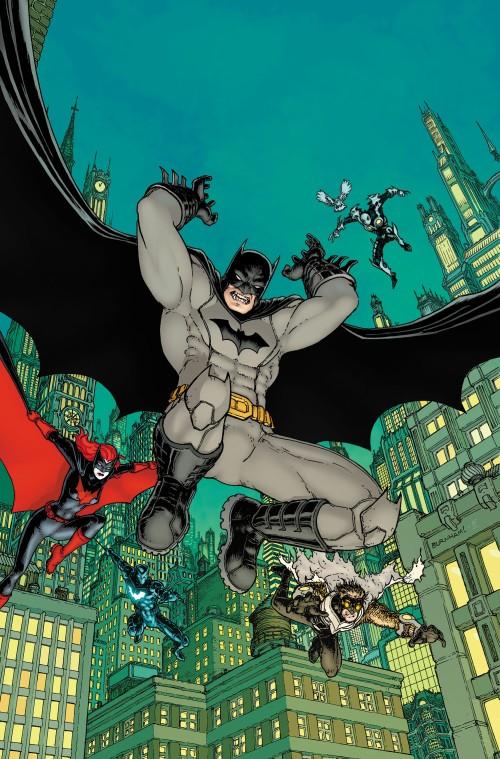 Portada variante de Detective Comics #27 (Chris Burnham) y la del 28 (Jason Fabok) con Batman & Catbird