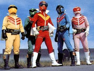 """Himitsu Sentai Goranger. Los """"power rangers"""" de verdad, los buenos."""