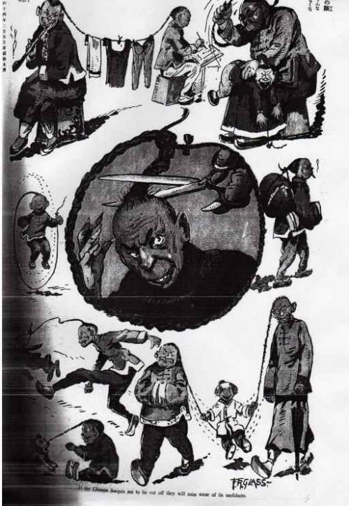 Chinese luesquis en Tokyo Puck, 20 de Febrero de 1911, página 80