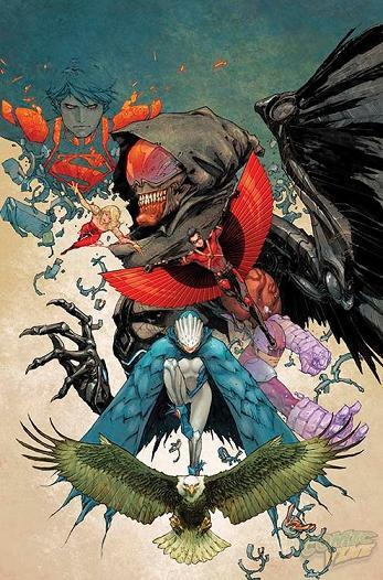 Portada del Teen Titans #30 por Kenneth Rocafort.