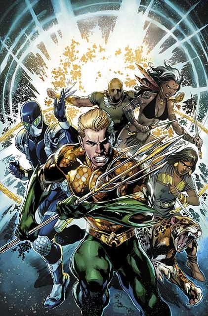 Portada de Aquaman and the Others #1 a cargo de Ivan Reis y Joe Prado
