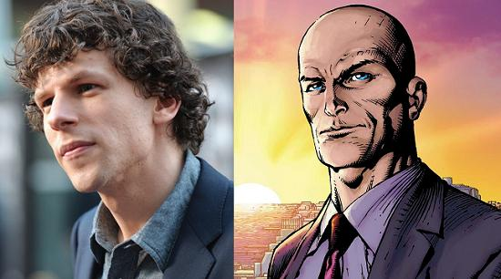 Jesse Eisenberg será Lex Luthor en la secuela de El Hombre de Acero