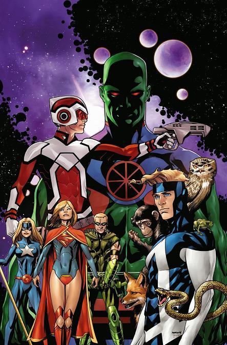 Portada variante del Justice League United #0 por Mike McKone