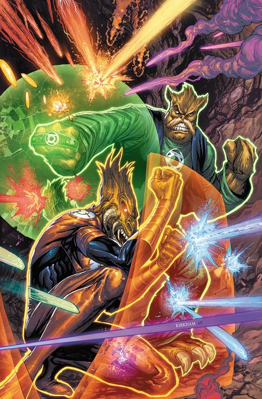 Portada de Larfleeze #10 por Tyler Kirkham.
