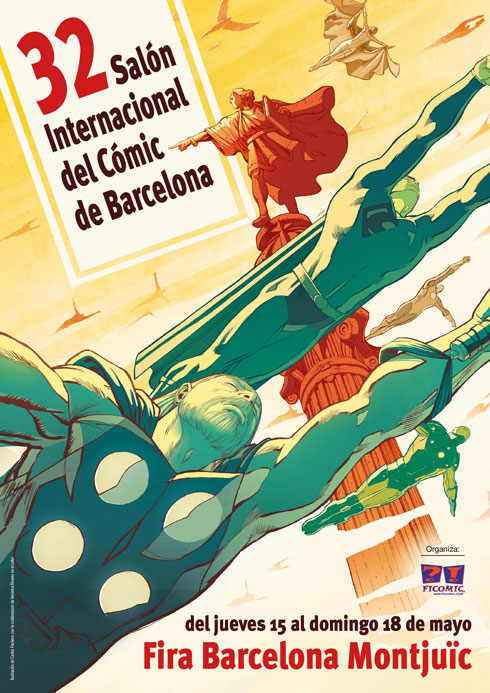 Cartel Salon Comic Barcelona Carlos Pacheco 32