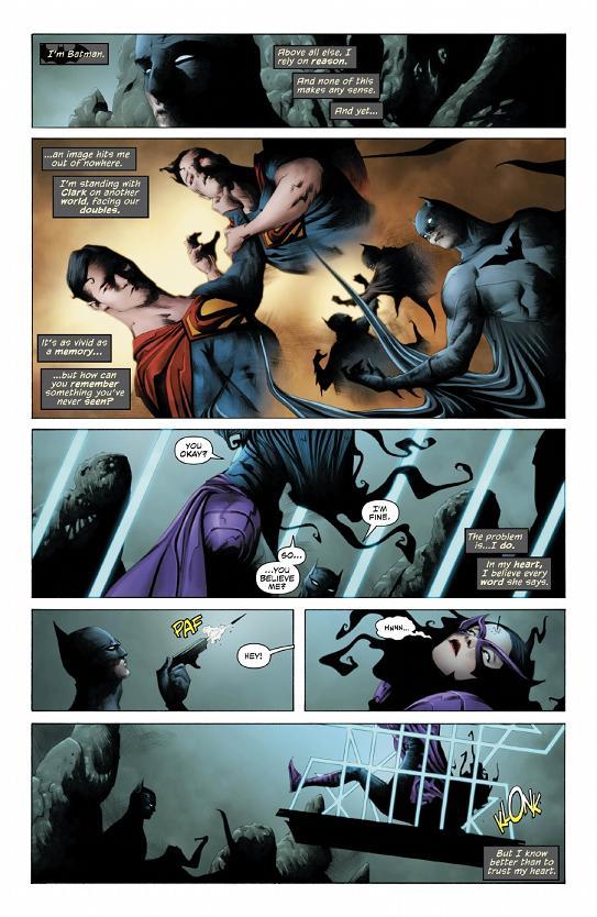 Más páginas del Batman/Superman #8 por Jae Lee