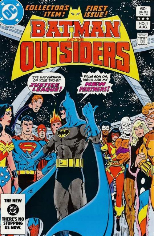 Mítica portada del primer número de Batman and the Outsiders