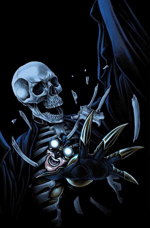 Portada del penúltimo número, obra de Jorge Lucas, con Death Man como protagonista