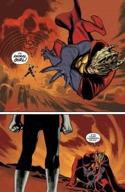 Páginas del número 28 por Rafael Albuquerque, en el que Animal Man se enfrenta al Hermano Sangre