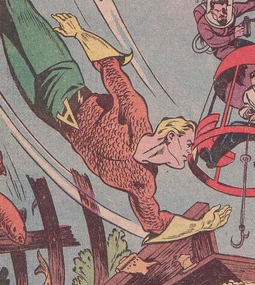El traje de Aquaman ha sufrido pocas alteraciones desde la Golden Age