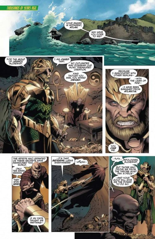 Primera página del Aquaman and the Others #1, obra de Lan Medina