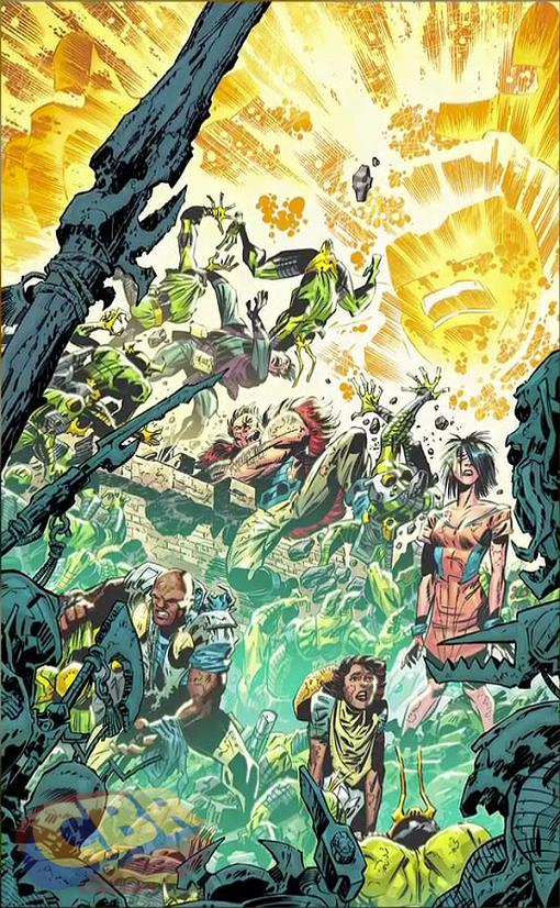 Portada de Keith Giffen del Infinity Man and the Forever People #1