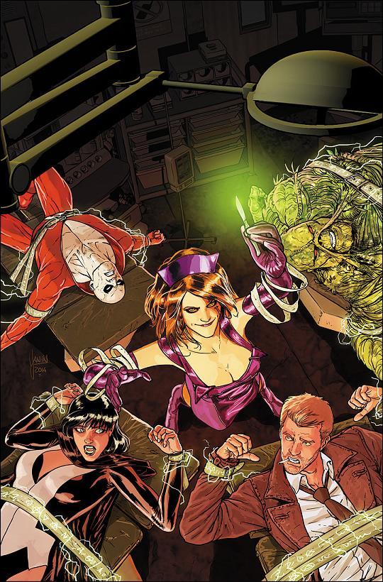 Portada del Justice League Dark #32 por Mikel Janin