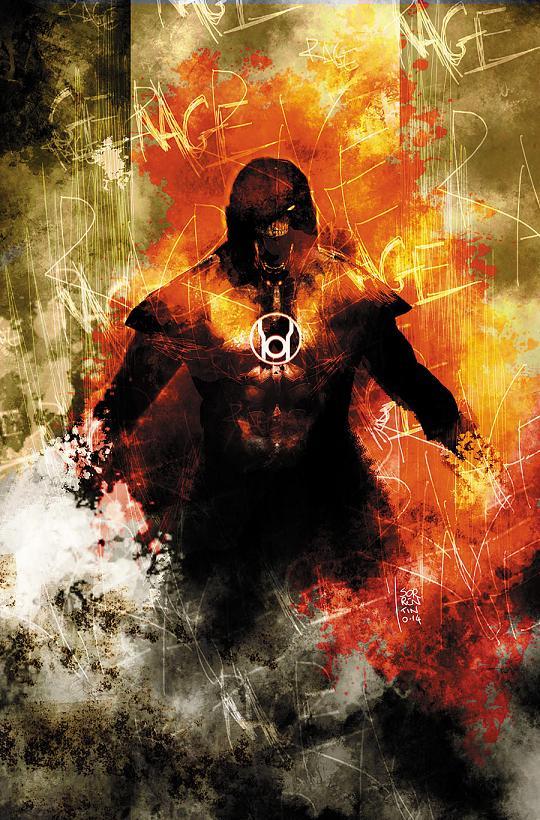 Portada del Red Lanterns #32 por Andrea Sorrentino
