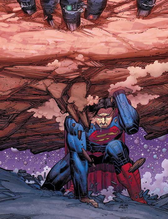 Portada del Superman #32 por John Romita Jr