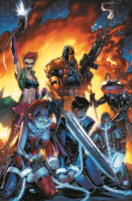 Portada del New Suicide Squad #1 por Jeremy Roberts