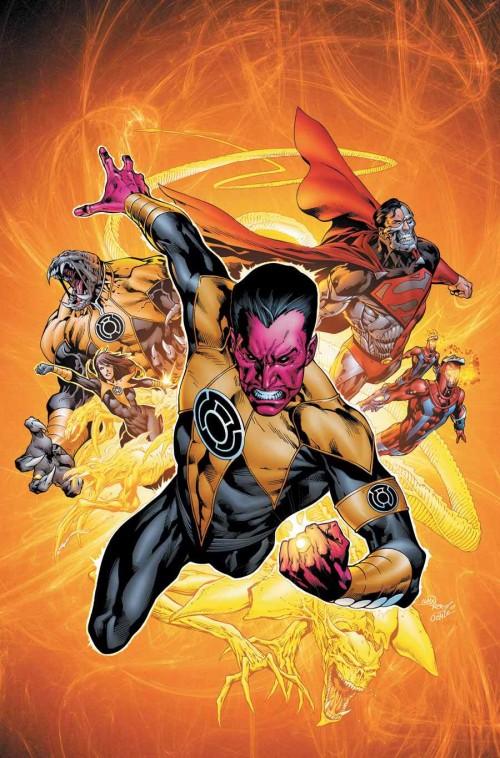 Portada para el TPB de la Guerra de los Sinestro Corps, por Ivan Reis