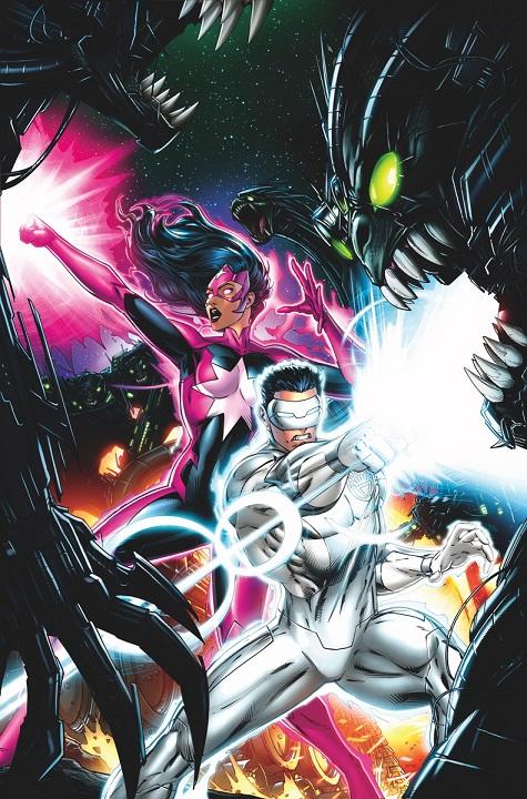 Portada del Green Lantern: New Guardians #33 por Jeremy Roberts