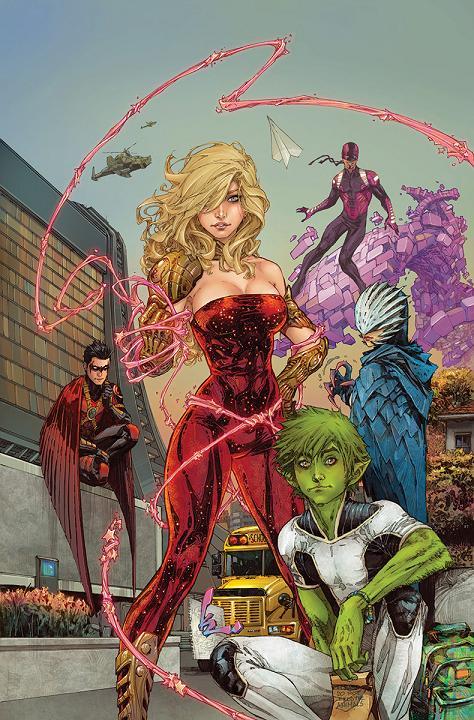 Portada del Teen Titans #1 por Kenneth Rocafort
