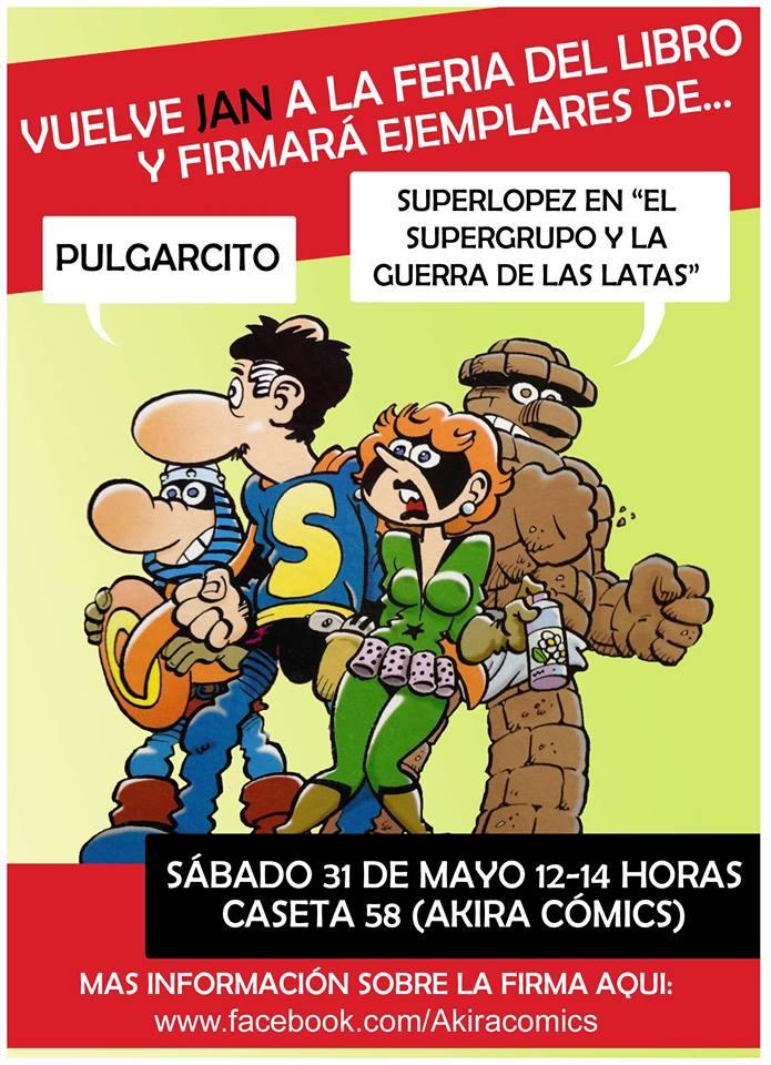 Jan Firmará Ejemplares En La Feria Del Libro De Madrid Zona Negativa