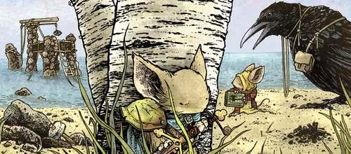 Detalle de la portada del primer número de Hacha Negra