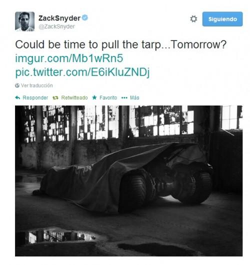 Tweet de Zack Snyder