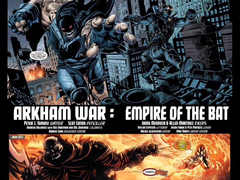 Un nuevo Batman surca los cielos de Gotham en Arkham War #4