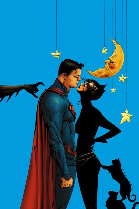 Portada del Batman/Superman #14 por Jae Lee