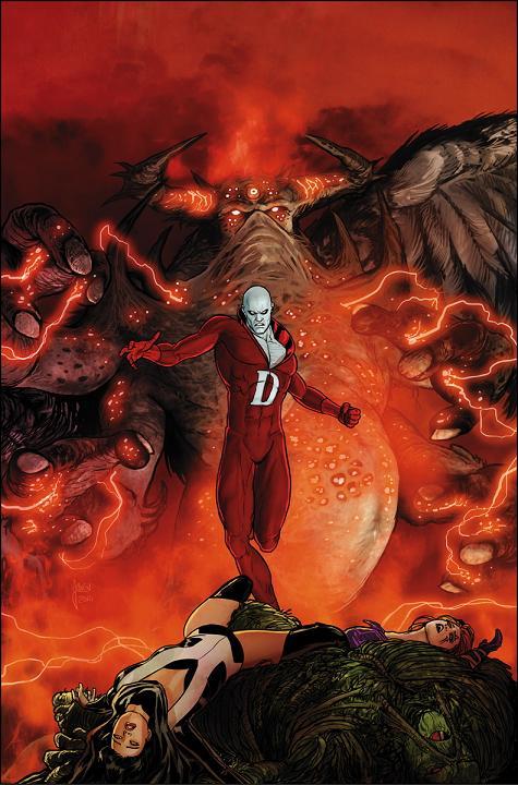 Portada del Justice League Dark #34 por Mikel Janín