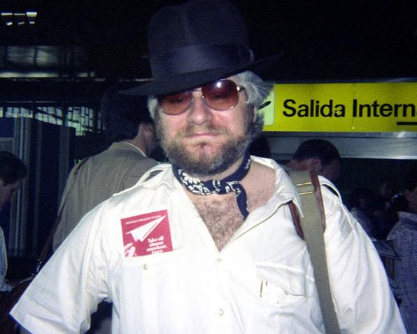 Chris Claremont, a su llegada a Barcelona en 1985