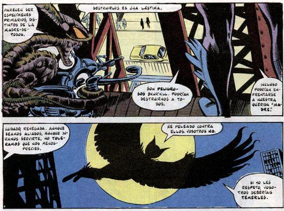 El Nido hace su primera aparición junto a Pájaro de Muerte, la hermana de Lilandra