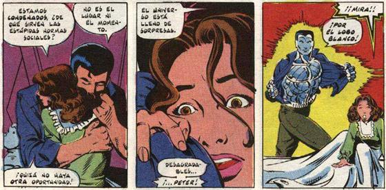 En el espacio, afrontando una muerte segura, Kitty y Piort se confiesan su amor
