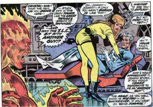 Johnny Storm se encuentra con que su amada ha encontrado a otro.