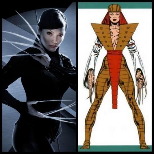 Deathstrike (Kelly Hu) y su aspecto en las viñetas