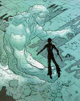 Aquaman como elemental del agua