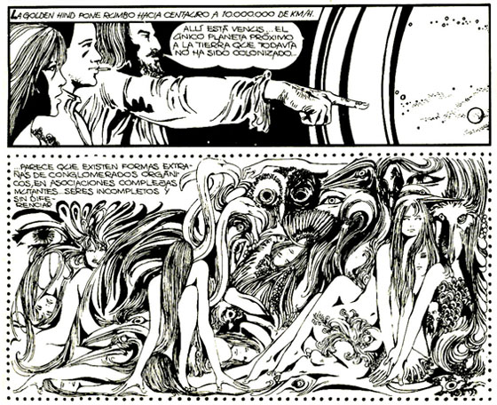 Evocaciones misteriosas prenden en cada página dibujada por Crepax