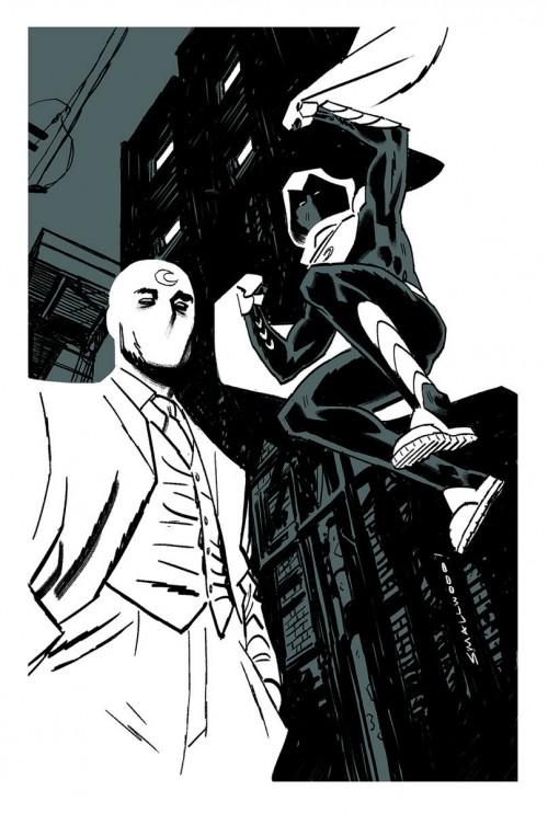 Boceto de Greg Smallwood para Moon Knight.