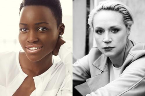 Lupita Nyong'o y Gwendoline Christie.