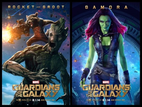Mapache Cohete, Groot y Gamora