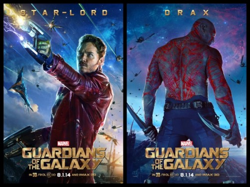 Posters de Star-Lord y Drax