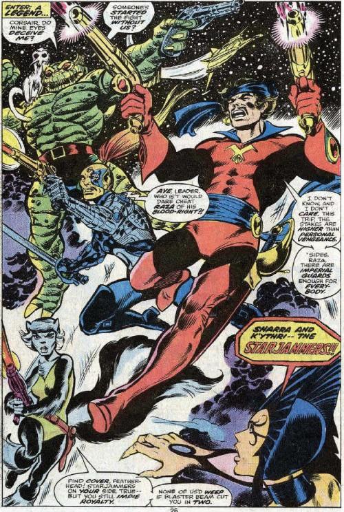 Los Saqueadores según Dave Cockrum, en su primera aparición en Uncanny X-men 104