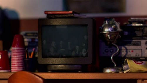 Los personajes dentro de personajes reflejados en la televisión. Community.