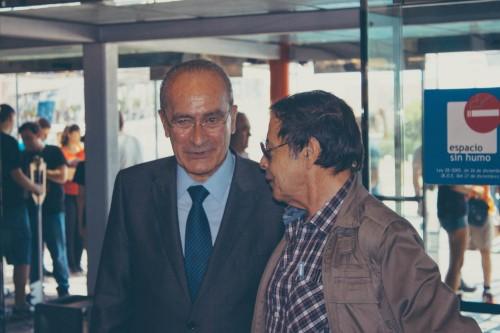 Francisco de la Torre, alcalde de Málaga (izq) junto a Alfonso Azpiri