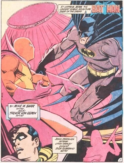 Página 1 del Annual #8 de Batman, por Trevor Von Eeden