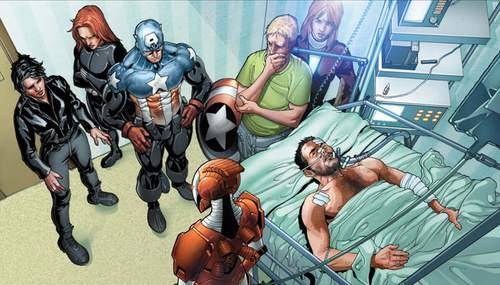 Tony Stark se encuentra en una situación precaria al inicio de la historia