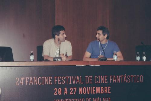 Jesús Marugán (izq) y Jorge Cabrerizo, organizador de Animacomic